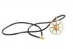 Ювелирный сатиновый шнурок с позолоченными застёжками / Satinband mit Verschluß aus Silber, vergoldet (Schmuck)